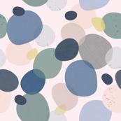 Fabric Textured Circle-pink