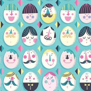 Egg Heads (Aqua)
