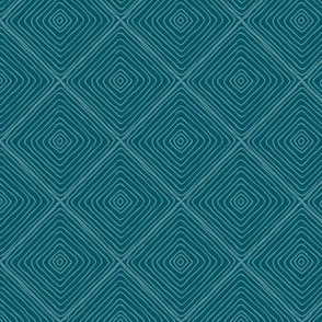 Squared Up (teal) Coordinate for Sloth patchwork fabric, Design GL