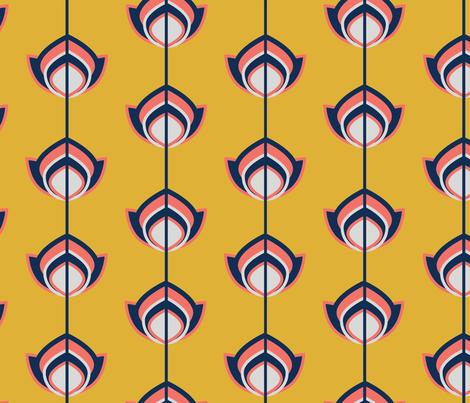 PANTONE 2019 DESIGN CHALLENGE SPOONFLOWER JAN fabric by caroline_lister_designs on Spoonflower - custom fabric