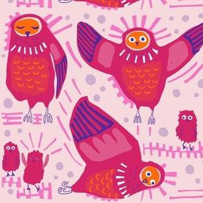 Owls_6 in magenta