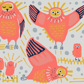 Owls / limited palette