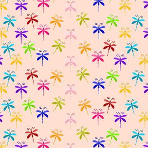 Peach Dragonflies