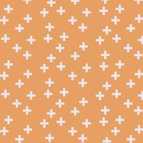 Criss cross in creamsicle