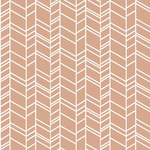 Chevron in dusty rose