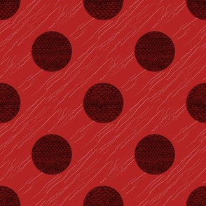 Scale Texture Dot in Red and Black