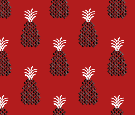 Punknapple {Rockabilly Punk Pineapple} fabric by lochnestfarm on Spoonflower - custom fabric