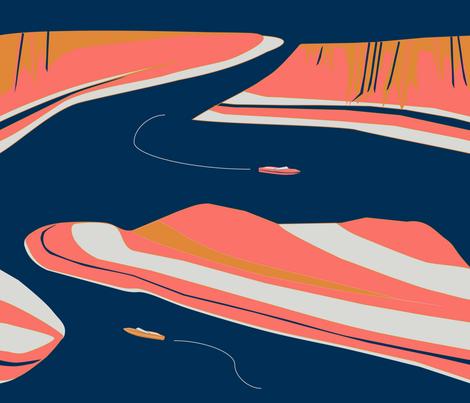 Lake_Powell fabric by xsmrahn on Spoonflower - custom fabric