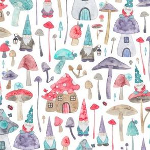 Fairytale Gnomes mushrooms and toadstools!