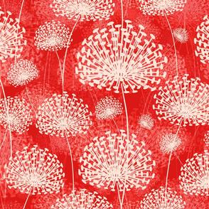 vintage Dandelions red