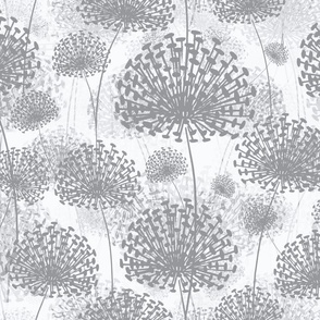 Grey and White Dandelions invert