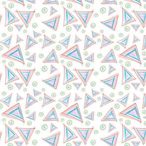 Messy Crayon Triangles and Circles