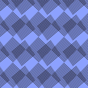 Black and Blue Square Lines Overlay