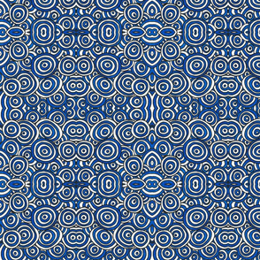 Blue and White Circles