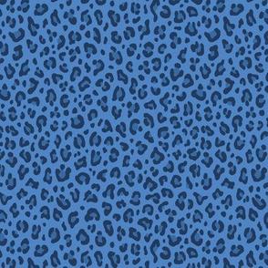 ★ DENIM LEOPARD ★ Leopard Print in Indigo Blue - Tiny Scale / Collection : Leopard spots – Punk Rock Animal Print