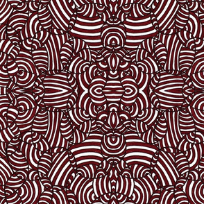 Abstract Hand Drawn Brown and Black Pattern