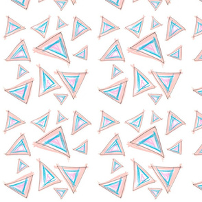 Messy Hand drawn Triangles