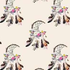 """4"""" Spring Boho Dreamcatcher Ivory"""