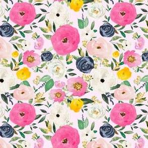 "4"" Spring Boho Western Free Falling Florals Light Pink"