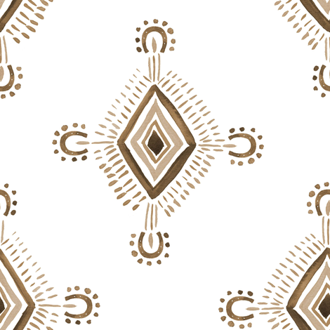 "8"" Tribal Aztec Brown fabric by shopcabin on Spoonflower - custom fabric"