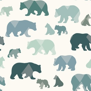 Bears & Cubs - Large - Teal