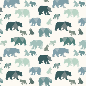 Bears & Cubs - Medium - Teal