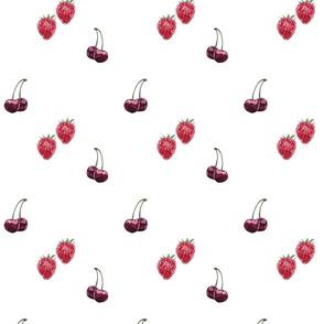 Watercolor Berries Pattern