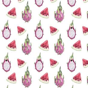 Watercolor Fruits Pattern