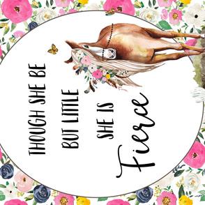 "54""X 36"" Spring Boho Floral Horse"