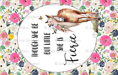 "56"" X 36"" Spring Boho Floral Horse"