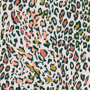 Colourful Leopard pink&gold