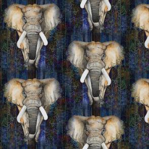 LARGE SEAMLESS ELEPHANTS 1 on wood