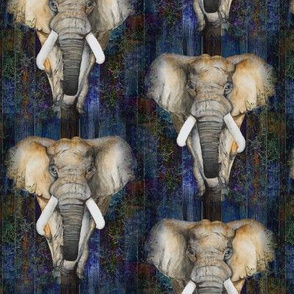 SMALL SEAMLESS ELEPHANTS 1 on wood