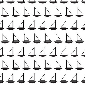 Little Sailboats (Black and White)