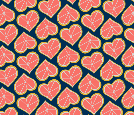 Grapefruit Lovin' -- Limited Palette Challenge fabric by kellybozarth on Spoonflower - custom fabric
