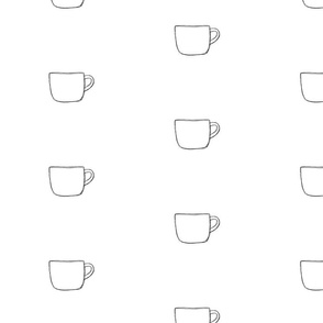 Coffe Cups Black and White