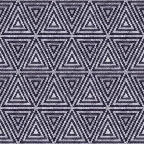 Dark Purple Distressed Triangles
