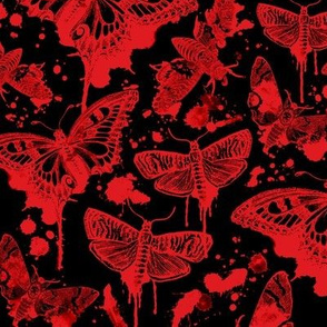Blood Splatter Drip Moths