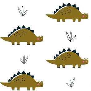Stegosaurus dinosaur boys kids fossil pattern