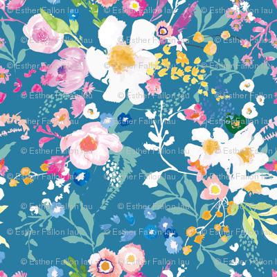 Portobello Floral (Cerulean) MED
