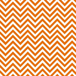 Orange Herringbone