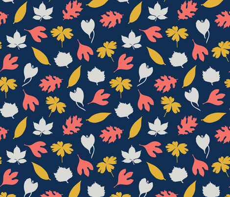 Leaves_Stock fabric by evy_v_design on Spoonflower - custom fabric