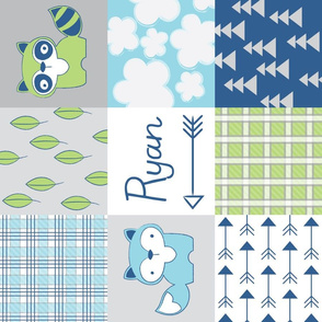 raccoon-wholecloth-navy-green-personalized