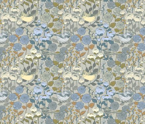Winter Garden {Frost Light} - medium scale fabric by ceciliamok on Spoonflower - custom fabric
