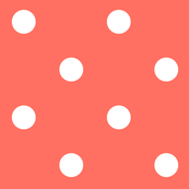 2019 color of the year living coral polka dots