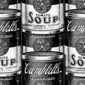 1906 Soup Can Black and White