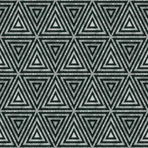 Night Watch Green Distressed Triangles