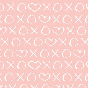 xoxo love hearts hugs and kisses print for lovers wedding and sweet valentine romance soft pink