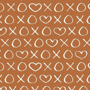 xoxo love hearts hugs and kisses print for lovers wedding and sweet valentine romance gender neutral copper