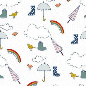 rainbows boots confetti